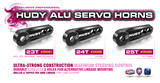 HUDY ALU SERVO HORN - HITEC - 2-HOLE  - 24T - 293498_