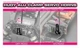 HUDY ALU CLAMP SERVO HORN - FUTABA - OFFSET - 25T - 293403_