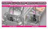 HUDY ALU CLAMP SERVO HORN - KO PROPO, JR, SANWA, AIRTRONICS - 2-HOLE - 23T - 293404_