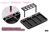 HUDY ALU TRAY FOR ON-ROAD DIFF & SHOCKS - 109800_