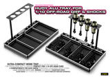 HUDY ALU TRAY FOR 1/10 OFF-ROAD DIFF & SHOCKS - 109801_