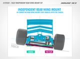 XRAY X1 FULLY INDEPENDENT REAR WING MOUNT SET - 373522_