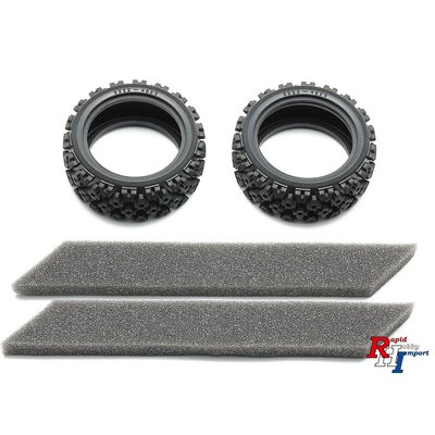 TAMIYA 26mm Rally Block Tires Soft/2Pcs - 54861