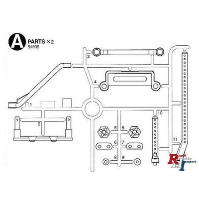 TAMIYA M-07 A Parts (Body Mounts) - 51595