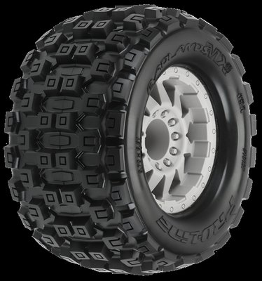 Proline Badlands MX38 3.8 (Traxxas Style Bead) All Terrain Tires Mounted on F-11 S - 10127-25