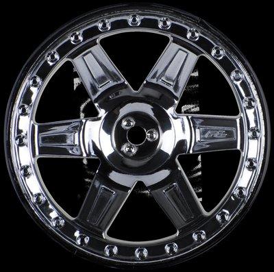 Proline Desperado 2.8 (Traxxas Style Bead) Black Chrome Rear Wheels, PR2730-11 - 2730-11