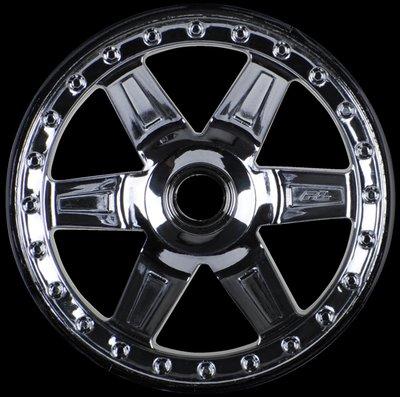 Proline Desperado 2.8 (Traxxas Style Bead) Black Chrome Front Wheel, PR2728-11 - 2728-11