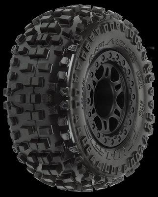 Proline Badlands SC 2.2/3.0 M2 (Medium) Tires Mounted on Split Six B, PR1182-21 - 1182-21