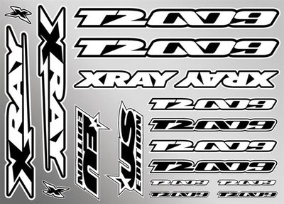 Xray T2'009 Sticker For Body - White, X397324 - 397324