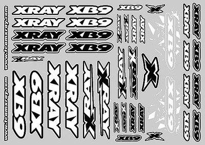Xray Xb9 Sticker For Body - White, X397358 - 397358