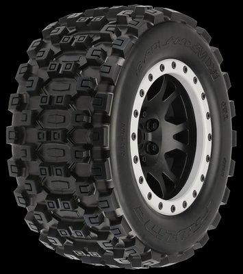 Proline Badlands Mx43 X-maxx Mtd Impulse Blk/gry F/r - 10131-13