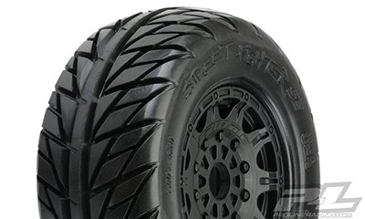 Proline Street Fighter Sc 2.2/3.0 Tires Mounted On Raid Black 17mm Wheels (2) For Db8, S, Pr1167-24 - 1167-24