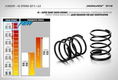 Xray 4s Spring-set C=3.0 (2) - 308290