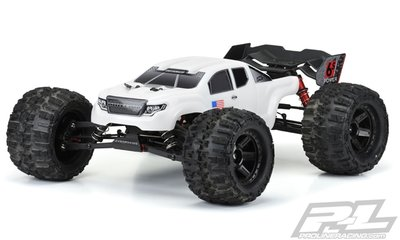 Proline Pre-cut Brute Bash Armor (white) Body For Arrma Kraton - 3521-15