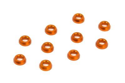 Xray Alu Conical Shim 3x6x2.0mm - Orange (10), X362280-o - 362280-O