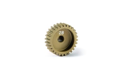 Xray Alu Pinion Gear - Hard Coated 28t / 48 - 365728
