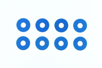 TAMIYA Alu Wheel Spacer-Set 0.5/1.0mm (2x4) blue - 53646