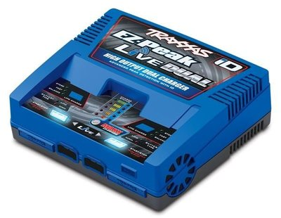 Traxxas Charger, Ez-peak Live, Duo Charger 200w Nimh/lipo With Id Auto Bat Eu - 2973G