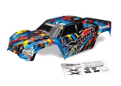 Traxxas Body, X-maxx®, Rock N' Roll (painted, Decals Applied) (assembled With Tailgate Protector) - 7711T