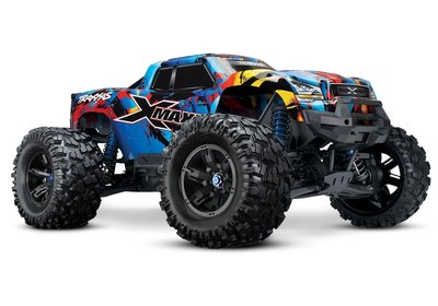 Traxxas X-Maxx 4WD VXL-8S Monstertruck TQi TSM (no battery/charger), Rock&Roll