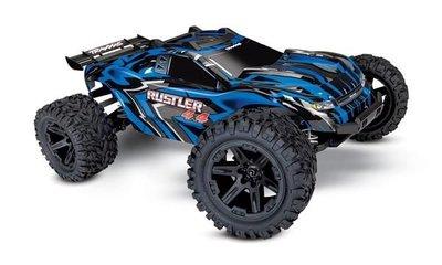 Traxxas Rustler 4x4 XL-5 TQ (incl battery/charger), Blue
