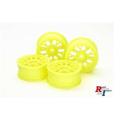 54850 Medium-Narrow Mesh Wheels (24mm Width, Offset +2) (Yellow) 4pcs.