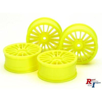 54852 Medium-Narrow 18-Spoke Wheels (24mm Width, Offset 0) (Yellow) 4pcs.
