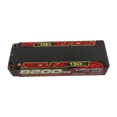 Gens ace Redline Series 8200mAh 7.6V 2S 130C HV LiPo (5mm, 301g)