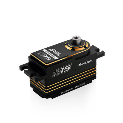 Power HD S15 Gold Low Profile (0.06s/15.0kg/7.4V) Brushless Servo