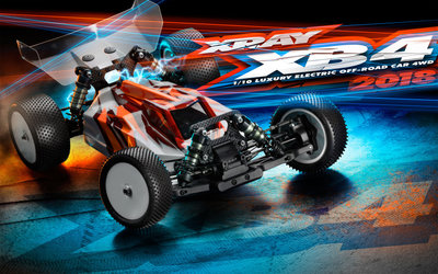 XRAY XB4 2018 Specs 4WD 1/10 Electric Off-Road Car - 360005