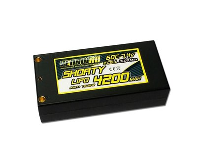 YellowRC LiPo 60C 4200mAh 7.4 Shorty Hardcase 4mm + deans - YEL2642