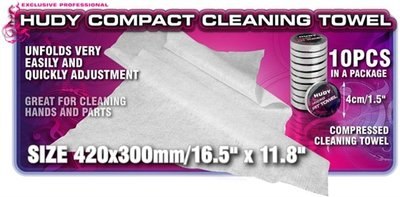 HUDY Compact Cleaning Towel (10) - 209065