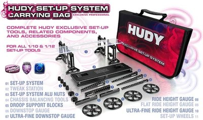 HUDY Set-Up Bag For 1/10 Tc Cars - Exclusive Edition - 199220