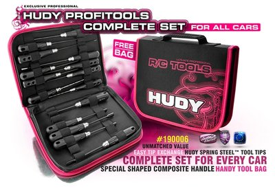 HUDY PT SET OF TOOLS + CARRYING BAG - FOR ALL CARS - 190006