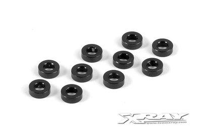 XRAY Alu Shim 3X6X2.0Mm - Black (10) - 303123-K