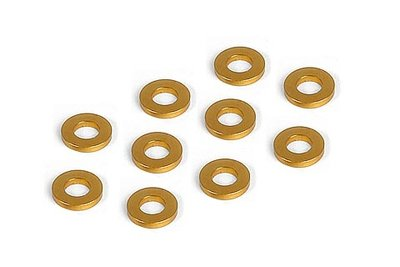 XRAY Alu Shim 3X6X1.0Mm - Orange (10) - 303122-O