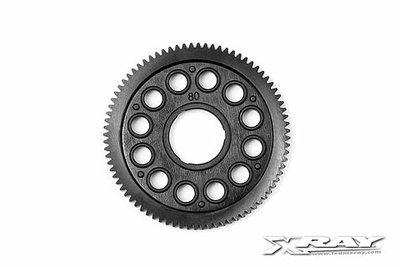 XRAY COMPOSITE SPUR GEAR - 80T / 64P - 375880
