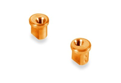 XRAY ALU ECCENTRIC BUSHING 1.0MM - ORANGE (2) - 372318-O
