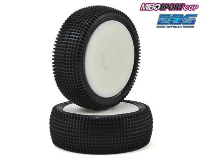 Schumacher Pre-Glued Cactus 1/10 - 4WD Front Tyres - Yellow (1 pair) - U6841