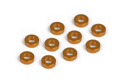 XRAY Alu Shim 3X6X2.0Mm - Orange (10) - 303123-O