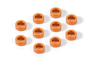 XRAY ALU SHIM 3x5x2.0MM - ORANGE (10) - 303140-O