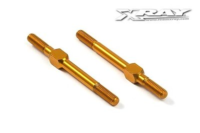 XRAY Alu Adj. Turnbuckle M3 L/R 39 Mm - Orange - Swiss 7075 T6 (2) - 302612-O