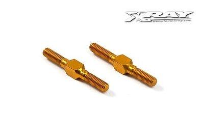 XRAY Alu Adj. Turnbuckle L/R 26 Mm - Orange - Swiss 7075 T6 (2) - 303212-O
