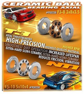 XRAY CERAMIC BALL-BEARING AXIAL F3-8 3x8x3.5 - 930238