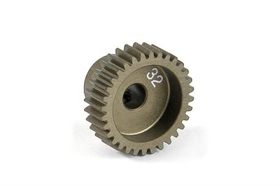 XRAY Narrow Pinion Gear Alu Hard Coated 32T : 64 - 305982