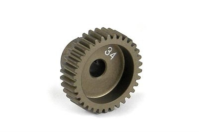 XRAY Narrow Pinion Gear Alu Hard Coated 34T : 64 - 305984