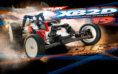 XRAY XB2 - 2019 SPECS - 2WD 1/10 ELECTRIC OFF-ROAD CAR - DIRT EDITION - 320005