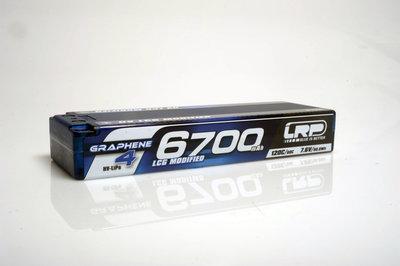 LRP HV Stock Spec GRAPHV LCG Modified GRAPHENE-4 6700mAh Hardcase Akku - 7.6V LiPo - 120C/60C - 431271
