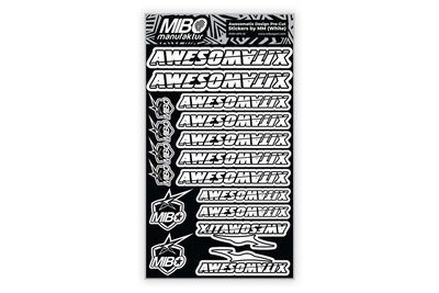 Awesomatix Design Pre-Cut Stickers by MM (White, Larger A5 size) - MM-APS-W