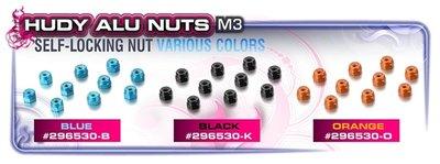 HUDY ALU NUT M3 - ORANGE (10) - 296530-O